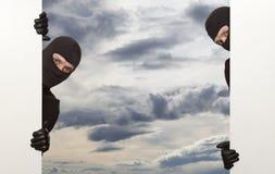 Assaltante, Ninja Imagem de Stock Royalty Free