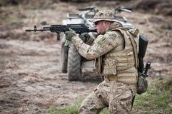 Assalto das forças especiais imagens de stock royalty free