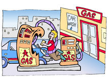 Assalto della pompa di gas Immagine Stock Libera da Diritti