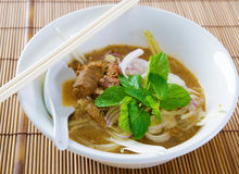 Assam or asam laksa. Delicious traditional Malay dish, malaysian food, Asian cuisine royalty free stock photo