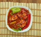 Assam-Fischcurry lizenzfreies stockbild