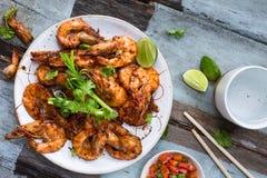 Assam krewetka, Piec na grillu krewetka w tamaryndy marynacie Malezyjski jedzenie obraz royalty free