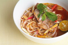 Assam laksa. Delicious Assam Laksa Ready To Serve stock photos