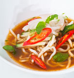 Assam laksa, malaysian food. Assam laksa, asian malaysian food stock photo