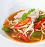 Assam laksa, malaysische Nahrung stockfoto