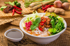 Assam Laksa & x28;Noddle in Tangy Fish Gravy& x29; Royalty Free Stock Photography