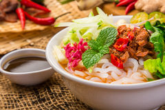 Assam Laksa & x28;Noddle in Tangy Fish Gravy& x29; Stock Photography
