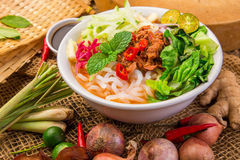 Assam Laksa Noddle in Tangy Fish Gravy Royalty Free Stock Image