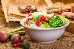 Assam Laksa & x28;Noddle in Tangy Fish Gravy& x29; Royalty Free Stock Images