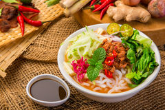Assam Laksa & x28;Noddle in Tangy Fish Gravy& x29; Stock Photo