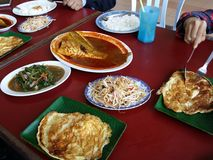 Assam-pedas Mittagessen melaka Malaysia Stockbilder