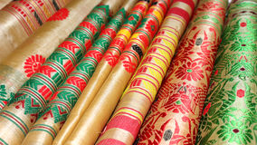 Assam Silk. Famous Assam Silk product of Sualkuchi, Assam, India stock images