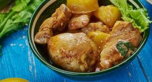 Assamese Duck Curry Royalty-vrije Stock Afbeeldingen