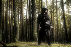 Assassin in the deep forest Stock Photos