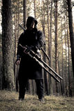 Assassin in the deep forest Stock Photo