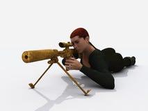 Assassin féminin Image stock