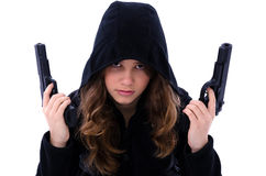 Assassin girl portrait Royalty Free Stock Photography