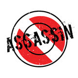 Assassin rubber stamp Royalty Free Stock Images