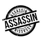 Assassin rubber stamp Stock Photography