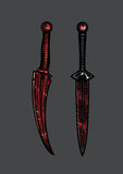 Assassin`s daggers Stock Photography