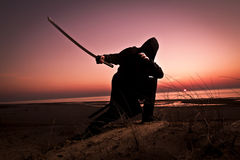 Assassin at the sea Royalty Free Stock Images