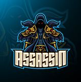 Assassin sport mascot logo design stock illustration
