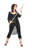 Assassin woman check sword Stock Photo