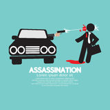Assassination Shooting From The Car Royalty Free Stock Photo