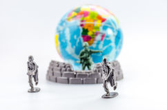 Assassinez du mini jouet en plastique de soldat Photographie stock
