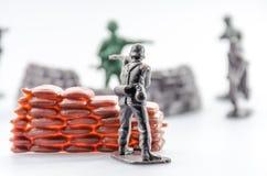 Assassinez du mini jouet en plastique de soldat Image libre de droits