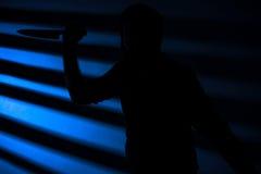 Assassino com faca Fotos de Stock