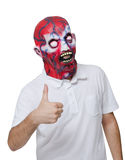 Assassino com uma máscara Imagens de Stock