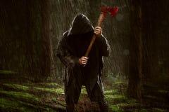 Assassino do machado imagens de stock royalty free