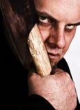 Assassino em série com machado Fotografia de Stock Royalty Free