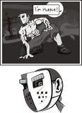 Assassino em uma máscara ilustração do vetor