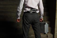 Assassino profissional na rua Fotografia de Stock Royalty Free