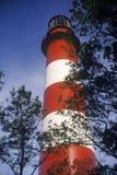 Assateague latarnia morska przy Assateague przyrody Krajowym Seashore, VA Zdjęcia Stock
