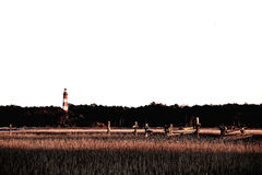 The assateague Lighthouse in Virginia Stock Image