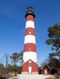 Assateague Lighthouse, Virginia. This is the Assateague Lighthouse located in the Virginia portion of the Chincoteague National Wildlife Refuge Stock Photos