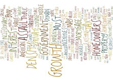 Assault On The American Homeowner Word Cloud Concept Royalty Free Stock Images