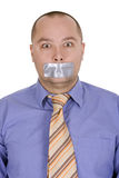 Assault - businessman gag Royalty Free Stock Images