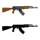 Assault rifle ak 47 Stock Image