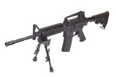 Assault rifle with bipod isolated Stock Photography
