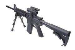 Assault rifle with bipod Stock Photos