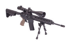 Assault rifle with bipod. Isolated on a white background Stock Photography