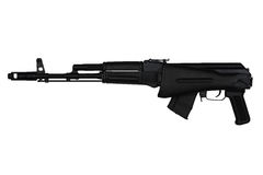 Assault rifle with butt stock retracted left side view isolated on white Royalty Free Stock Photography