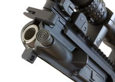 Assault rifle chamber Stock Image