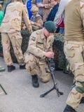 Assault rifle Dutch military Stock Photos