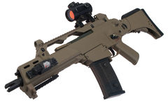 Assault rifle G36 with scope. Isolated Royalty Free Stock Images
