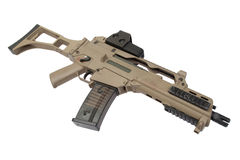 Assault rifle isolated. On a white background Stock Photography